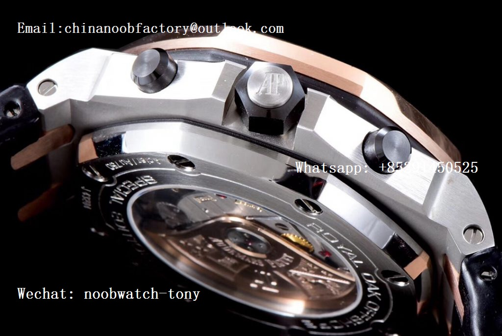 Replica Audemars Piguet AP Royal Oak Offshore Bucherer JF Best Edition Two Tone Rose Gold Bezel Blue Dial A3126