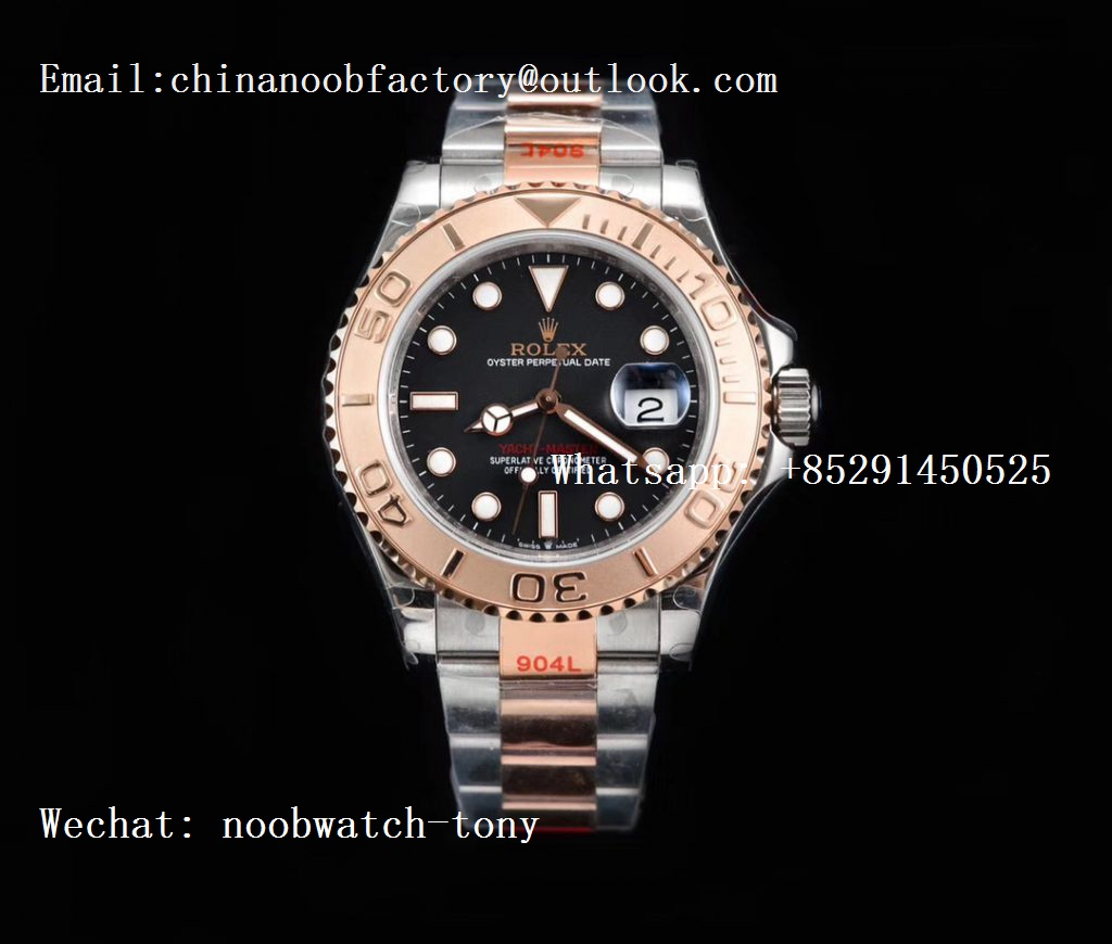 Replica Rolex Yacht-Master 126621 2tone Rose Gold GMF 1:1 Best Edition Black Dial on SS/RG Bracelet SA3235