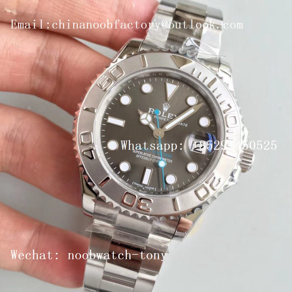 Replica Rolex Yacht-Master 37mm 268622 ARF 1:1 Best Edition Gray Dial 904L SS Case and Bracelet A2824