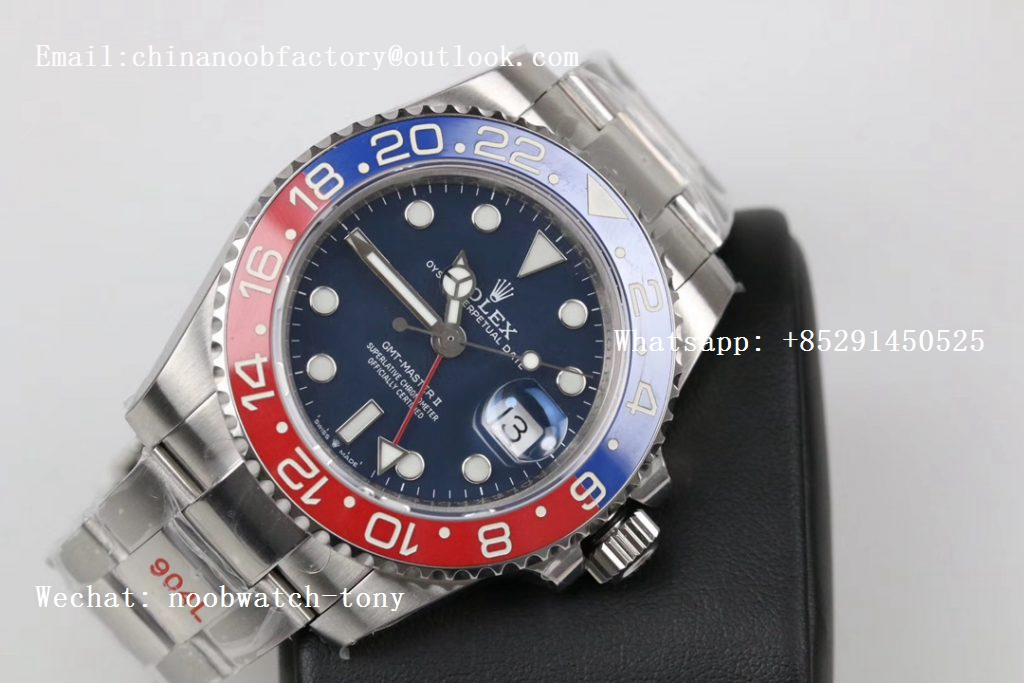 Replica Rolex GMT Master II 116719 BLRO Real Ceramic 904L SS GMF 1:1 Best Edition Blue Dial on Bracelet A3186