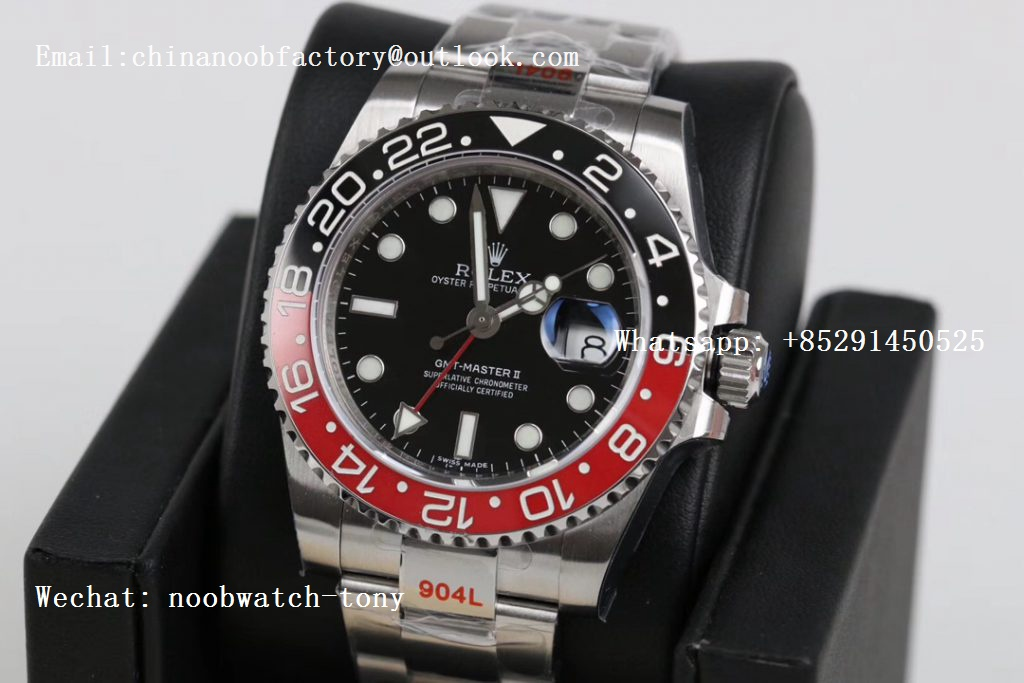 Replica Rolex GMT Master II 116719 Black/Red Coke Real Ceramic 904L SS GMF Best Edition Black Dial A3186