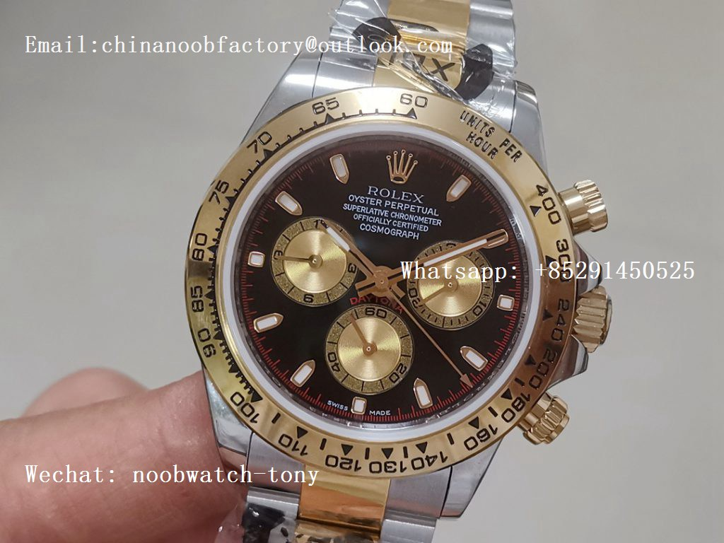 Replica Rolex Daytona 116523 2tone Steel/Yellow Paul Newman Dial JF