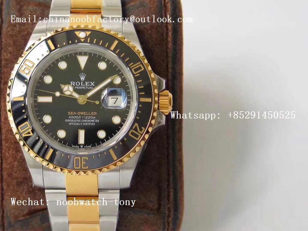 Replica Rolex Sea-Dweller Two Tone Steel/Yellow Gold Wrapped 126603 VRF 1:1 Best Edition 904L A2824