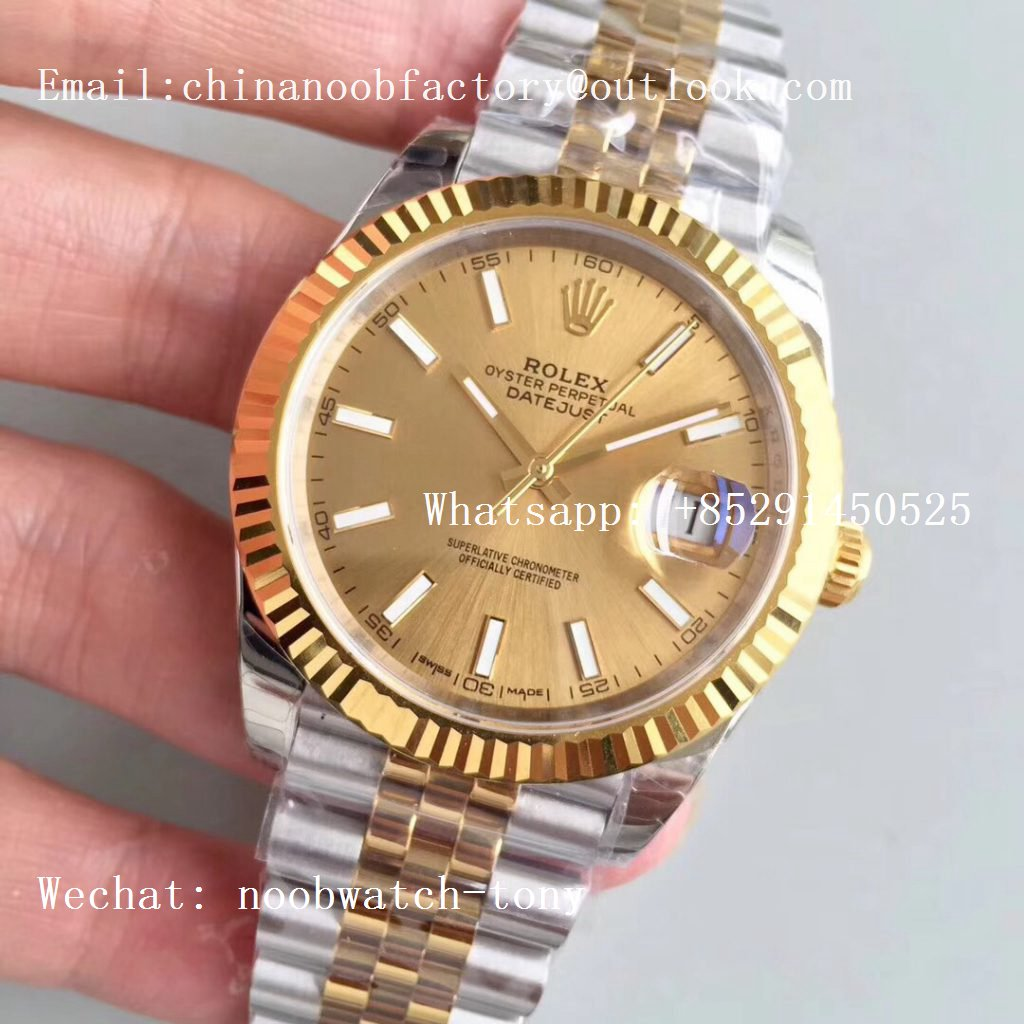 Replica Rolex DateJust 41mm 126333 904L 2tone Yellow Gold/Steel GMF 1:1 Best Edition Golden Dial A2836