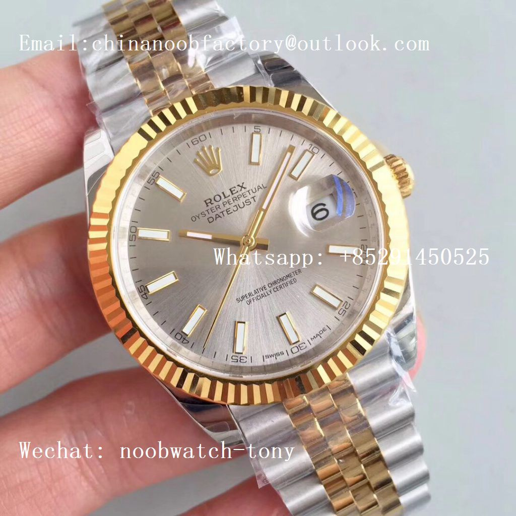 Replica Rolex DateJust 41mm 126333 904L 2tone Yellow Gold/Steel GMF 1:1 Best Edition Silver Dial A2836