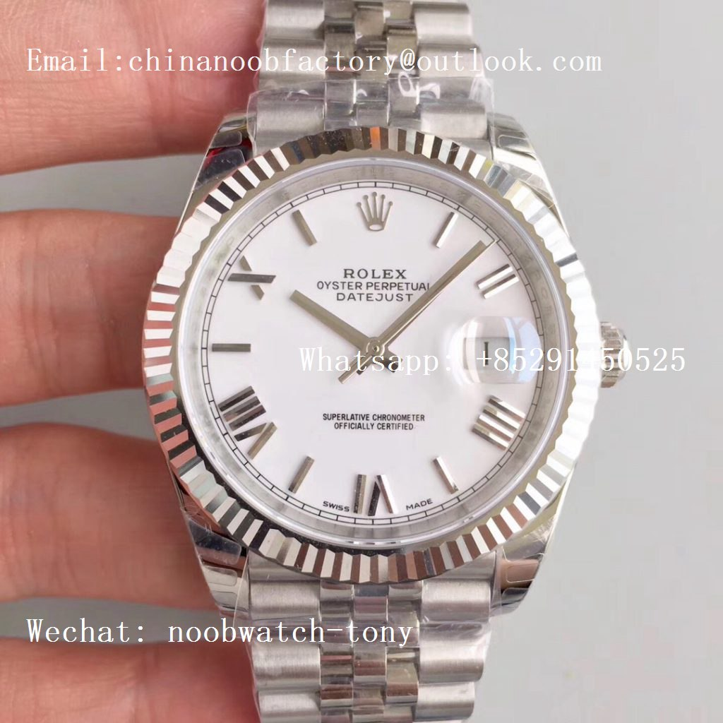 Replica Rolex DateJust 41mm 126334 904L SS GMF 1:1 Best Edition White Dial Roman Markers A2824