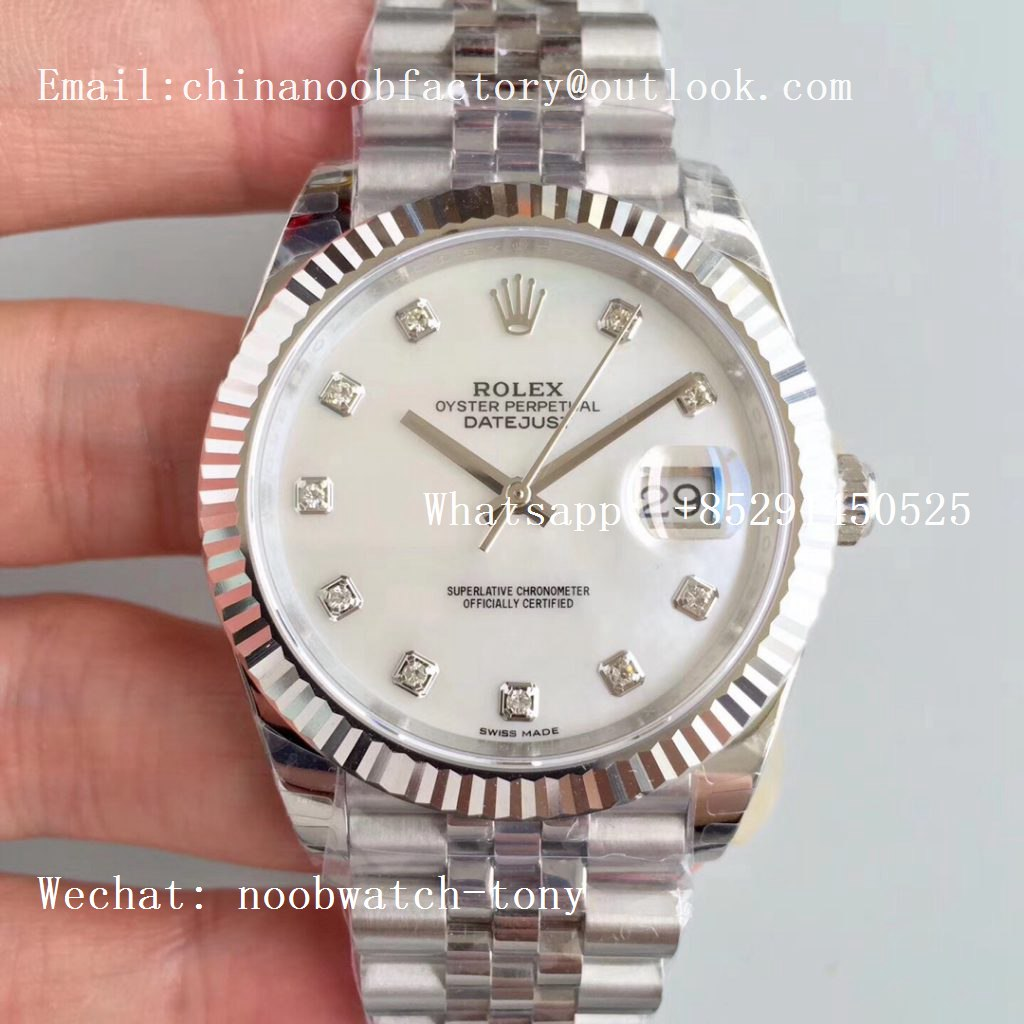 Replica Rolex DateJust 41mm 126334 904L SS GMF 1:1 Best Edition White MOP Dial A2824