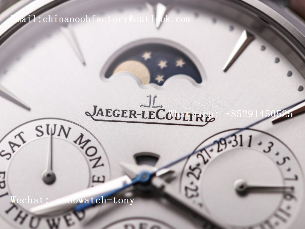 Replica Jaeger Lecoultre JLC Master Ultra Thin Perpetual Calendar V9F 1:1 Best Edition White Dial on Black Leather Strap A868