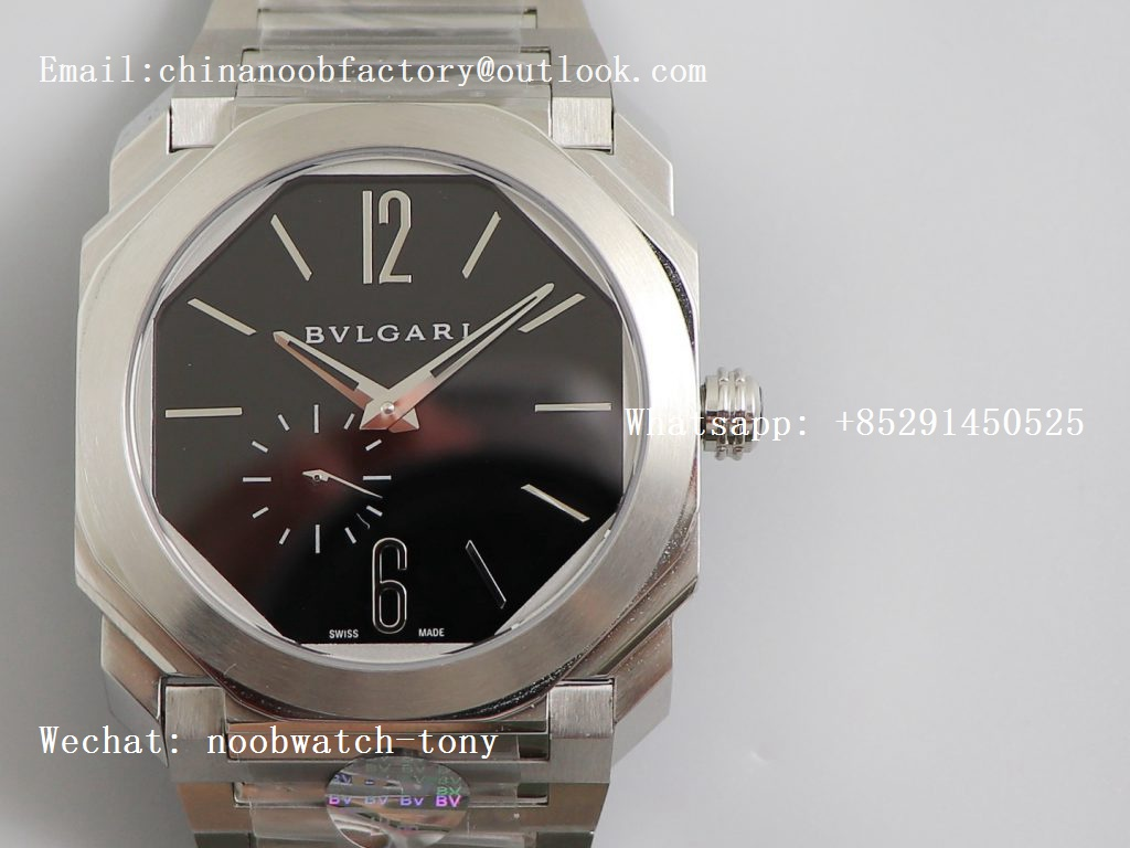 Replica Bvlgari Octo Finissimo Automatique SS OXF Best Edition Black Dial on SS Bracelet A138 Micro Rotor