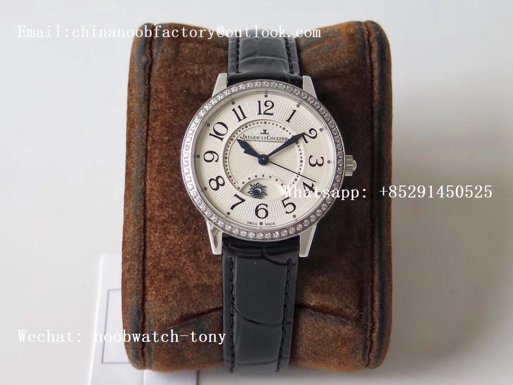 Replica Jaeger Lecoultre JLC Master Ultra Thin Moonphase Ladies SS ZF 1:1 Best Edition White Texture Dial Diamond Bezel A898