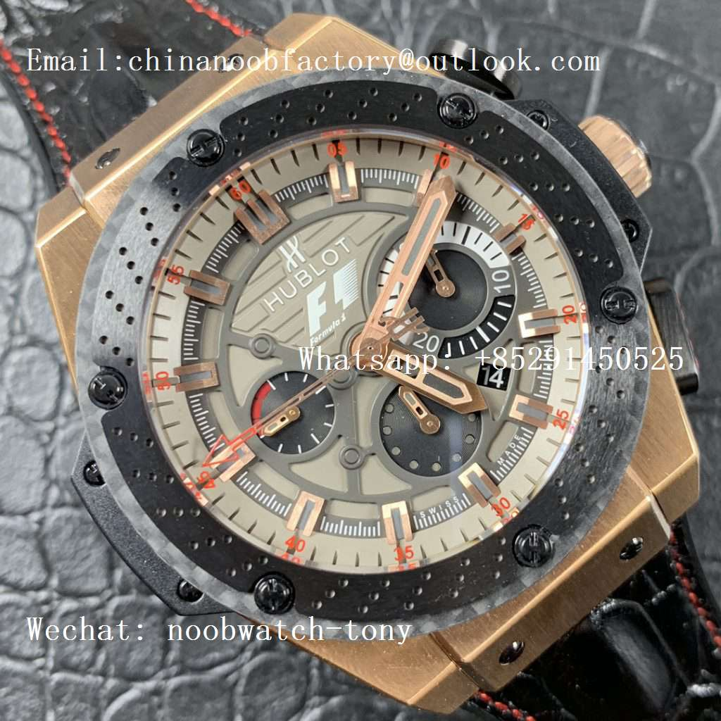 Replica Hublot Big Bang Ferrari F1 Rose Gold V6F Limited Edition Black Dial V6F 1:1 Best HUB4100