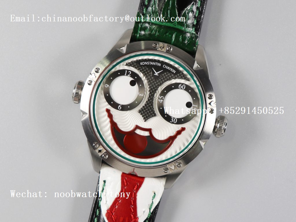 Replica Konstantin Chaykin Joker SS Joker Dial TWF Green Inner Bezel on Green Leather Strap NH35A