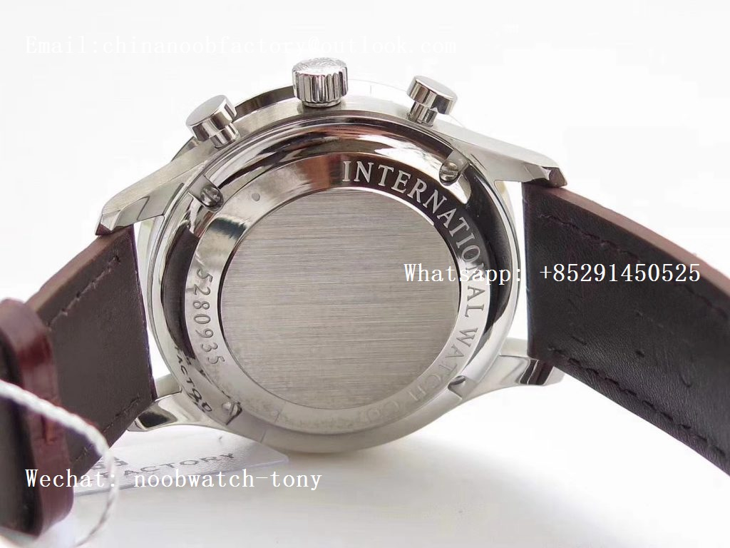 Replica IWC Portuguese Chrono IW371446 ZF 1:1 Best Edition on Blue Leather Strap A7750 (Same Thickness as Genuine)