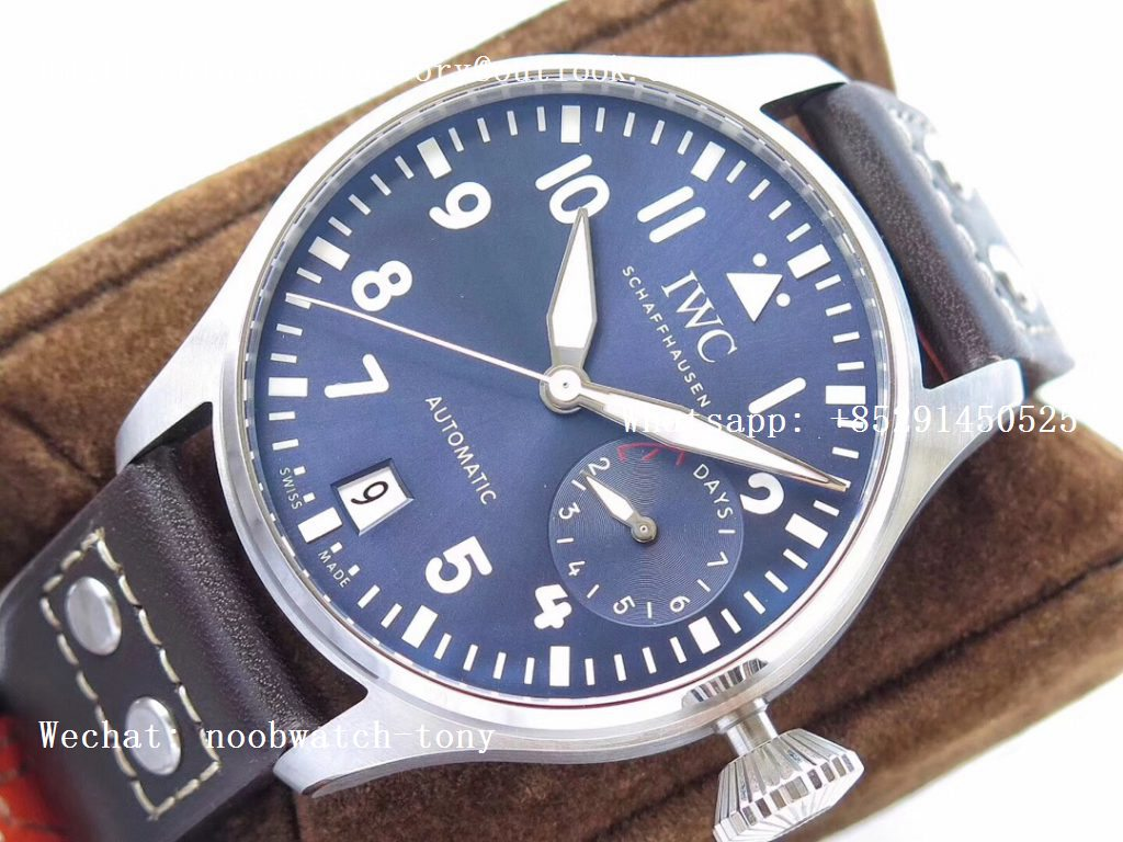 Replica IWC Big Pilot IW500916 Blue Dial ZF 1:1 Le Petit Prince Best Edition on Brown Leather Strap A521111