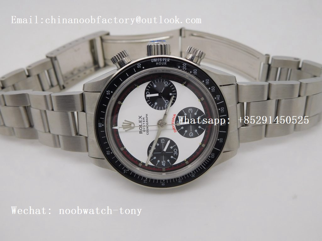 Replica Rolex Daytona Vintage 6263 Paul Newman White Red Dial A7750 JKF