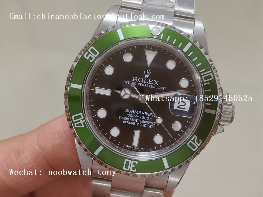 Replica Rolex Submariner 16610 LV 50TH Green Bezel BP Factory Best Version