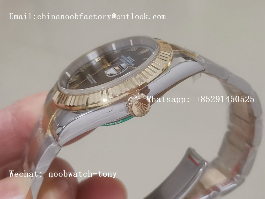 Replica Rolex DateJust 36mm 2tone 18kt Yellow Gold Wrapped 116233 GMF Black Dial Roman Markers A2836