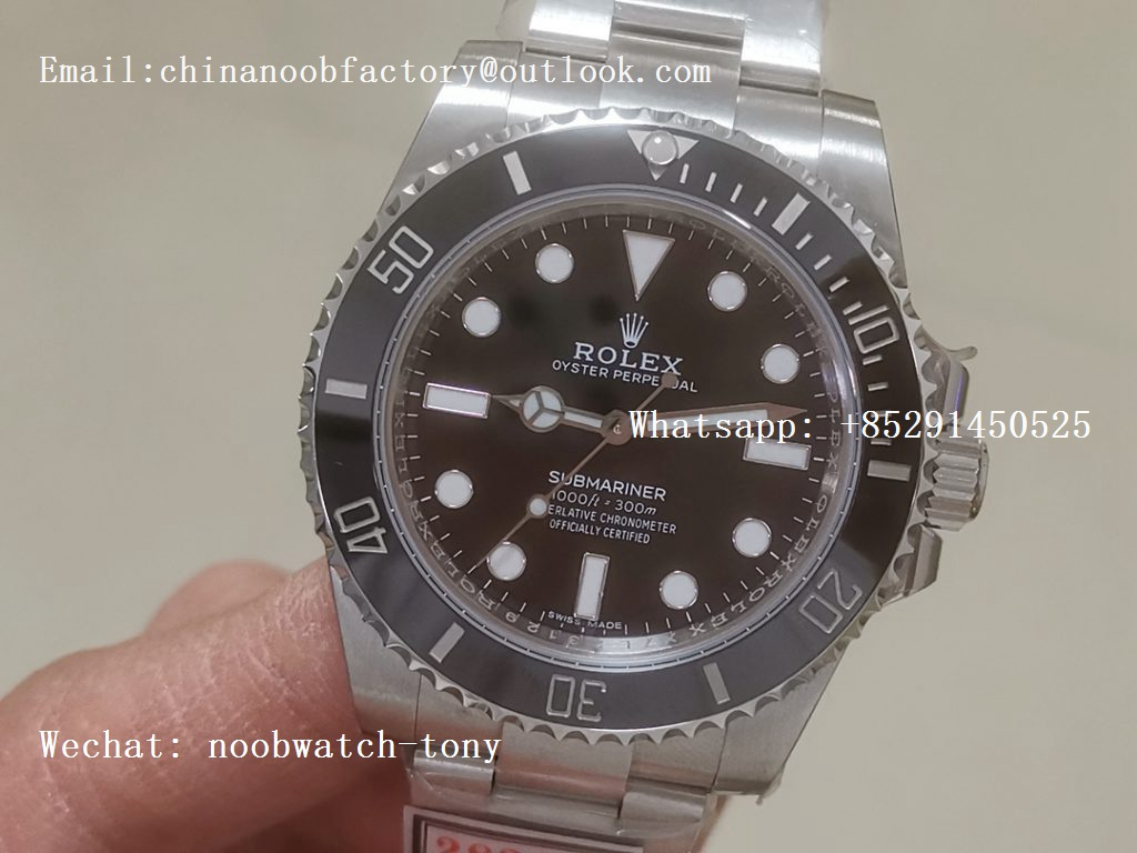Replica Rolex Submariner 114060 No Date Black Ceramic ZZF 904L 1:1 Best Edition A2836