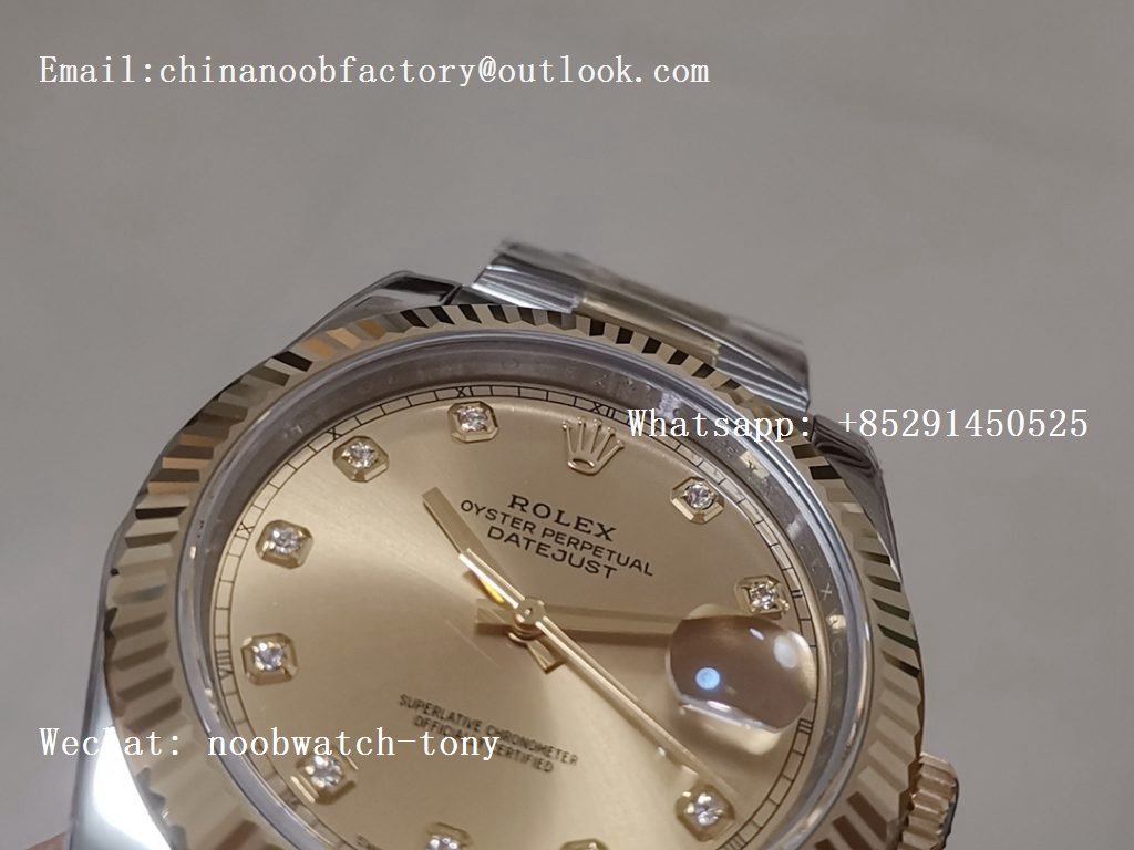 Replica Rolex DateJust 41mm 126333 Yellow Gold Steel ARF 1:1 Best Edition 904L Steel Golden Dial Oyster Bracelet A2824