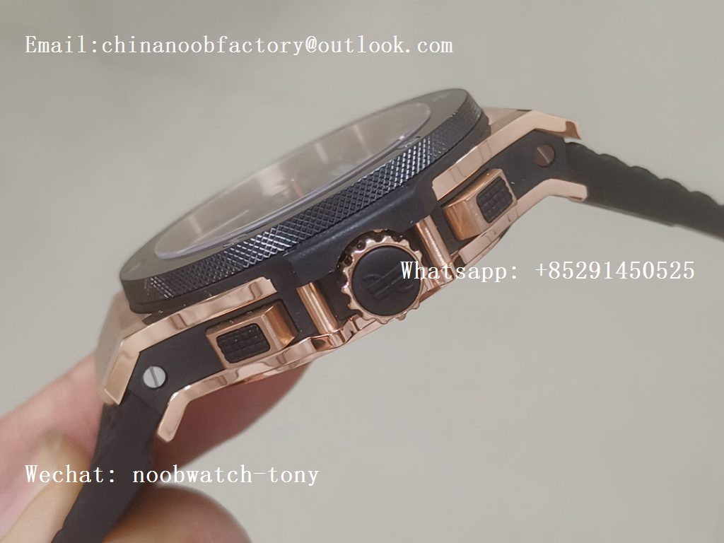Replica Hublot Big Bang 44mm Rose Gold Black Dial V6F 1:1 Best HUB4104