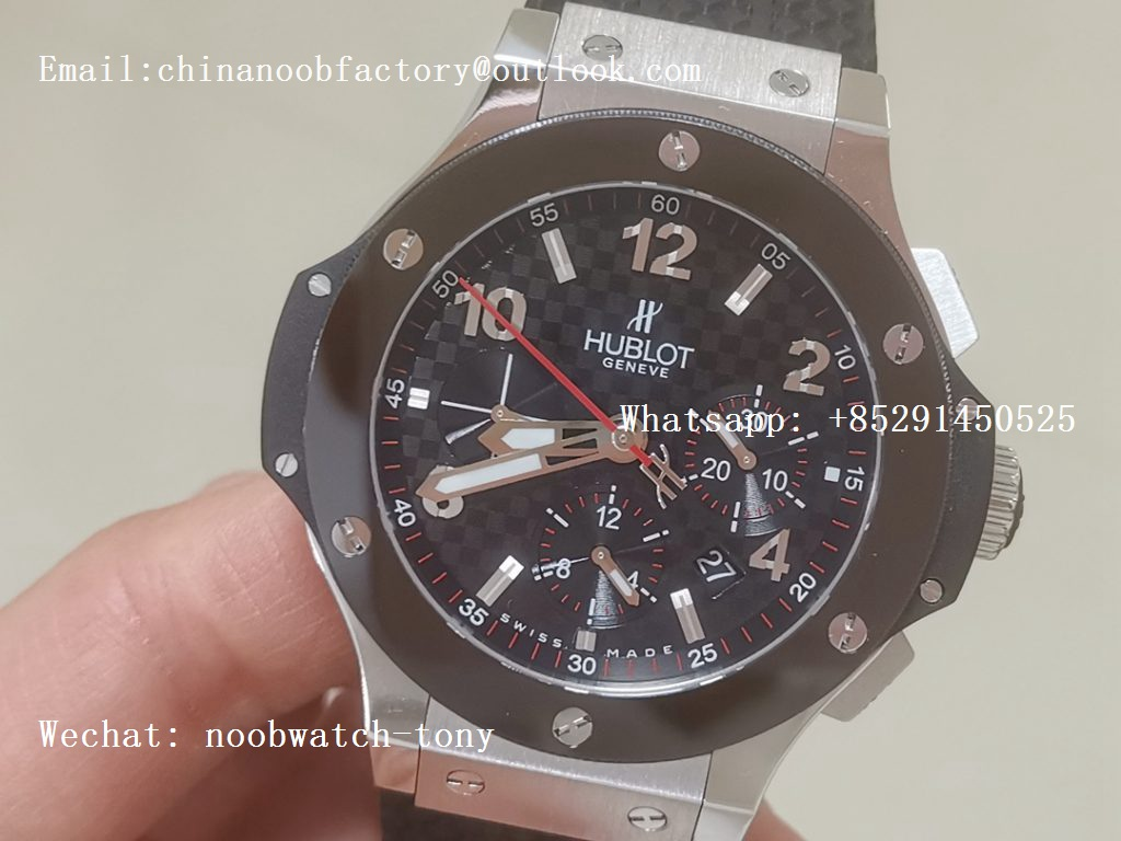Replica Hublot Big Bang Evolution 44mm SS Black Dial Ceramic Bezel V6F 1:1 Best HUB4104