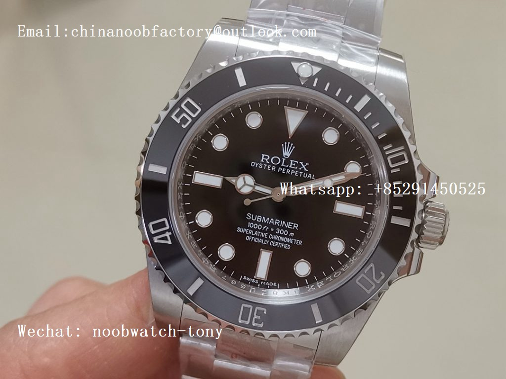 Replica Rolex Submariner 114060 No Date Black Ceramic Noob 1:1 Best Edition 904L SA3130 V10