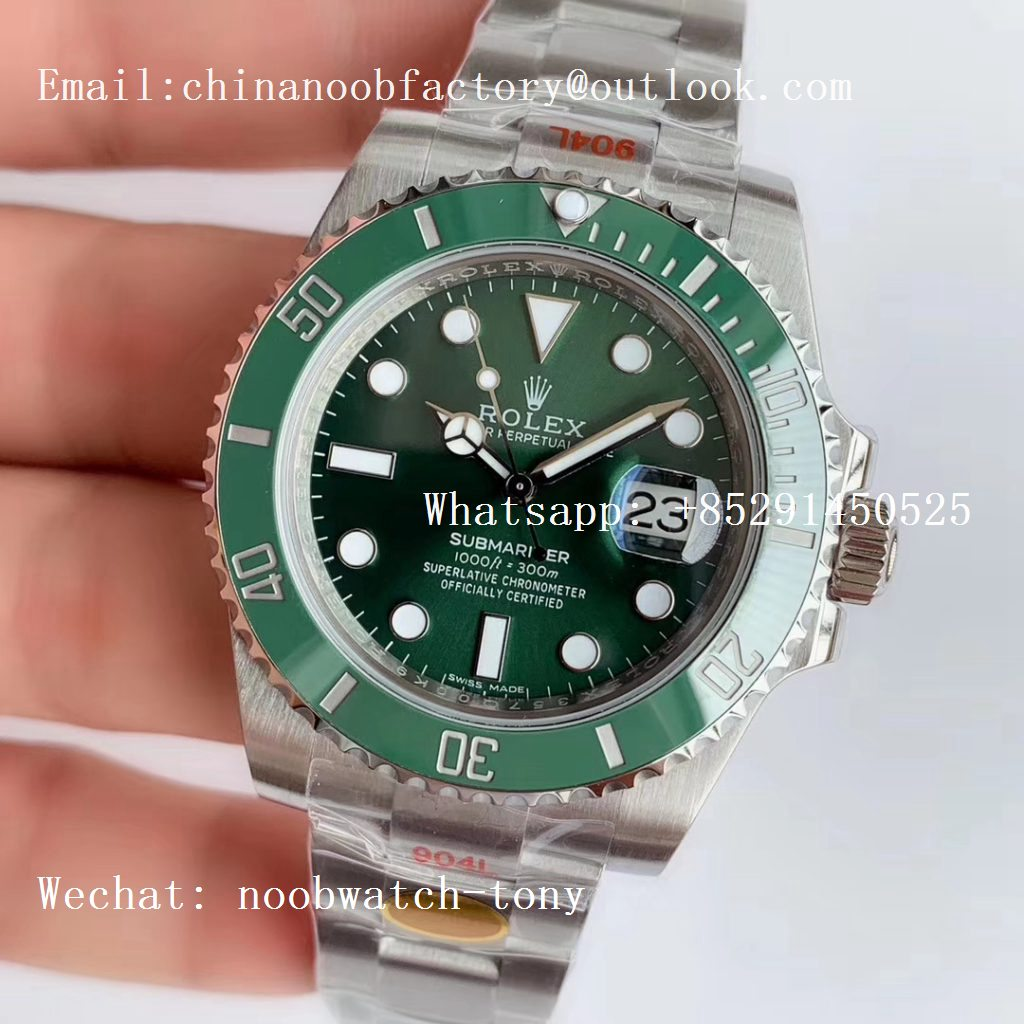 Replica Rolex Submariner 116610 LV HULK Green Ceramic 1:1 Best Edition 904L SA3135 V10 NOOB Factory