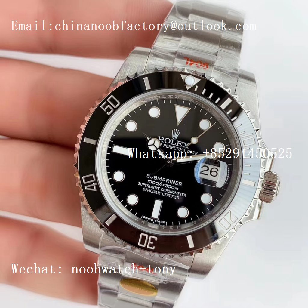 Replica Rolex Submariner 116610 LN Black Ceramic Noob 1:1 Best Edition 904L SA3135 V10