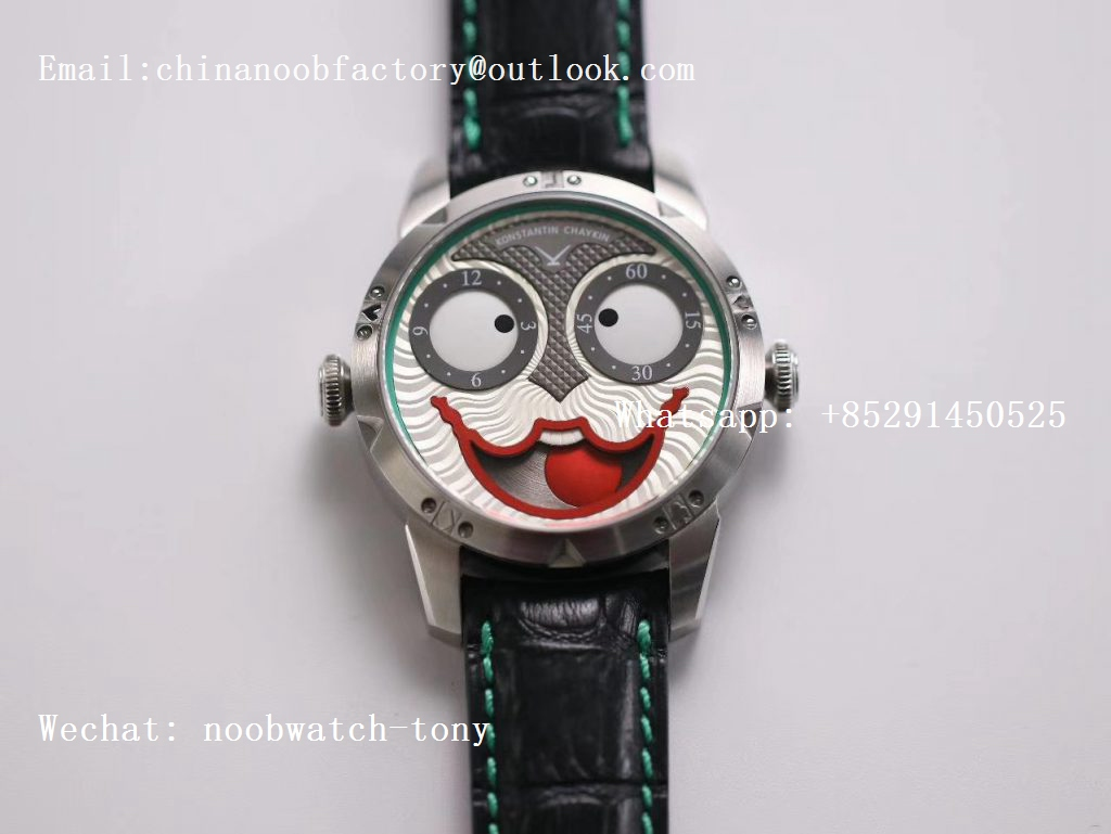 Replica Konstantin Chaykin Joker SS V9F Best Edition Joker Dial Green Inner Bezel on Black Leather Strap A2824