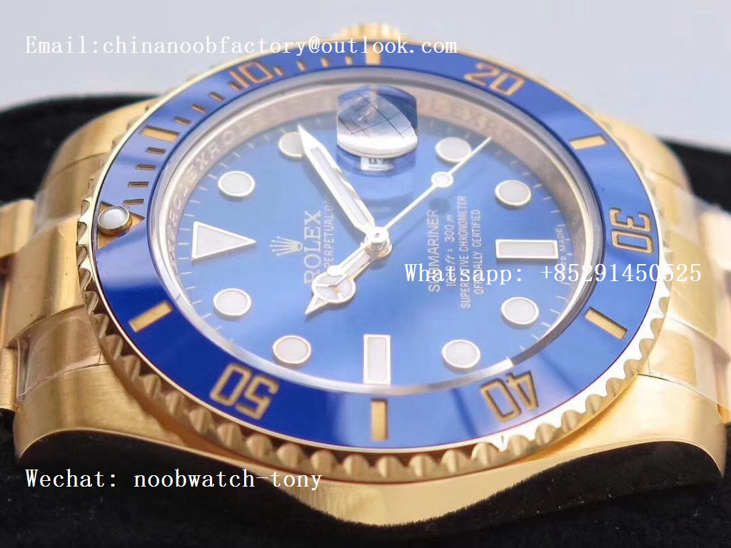 Replica Rolex Submariner 116618 LB VRF 1:1 Best Edition 18kt Yellow Gold Wrapped Blue Dial MAX Version