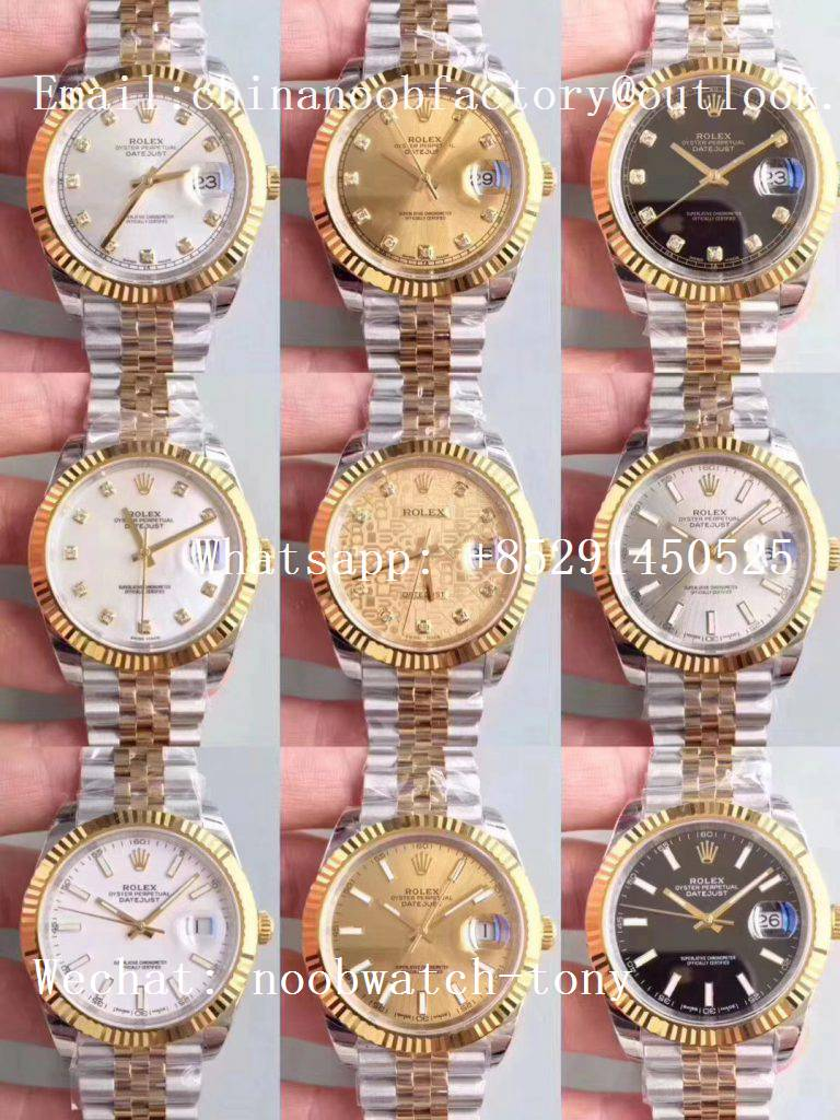 Replica Rolex DateJust 41mm 126333 904L 2tone Yellow Gold/Steel GMF 1:1 Best Edition A2836