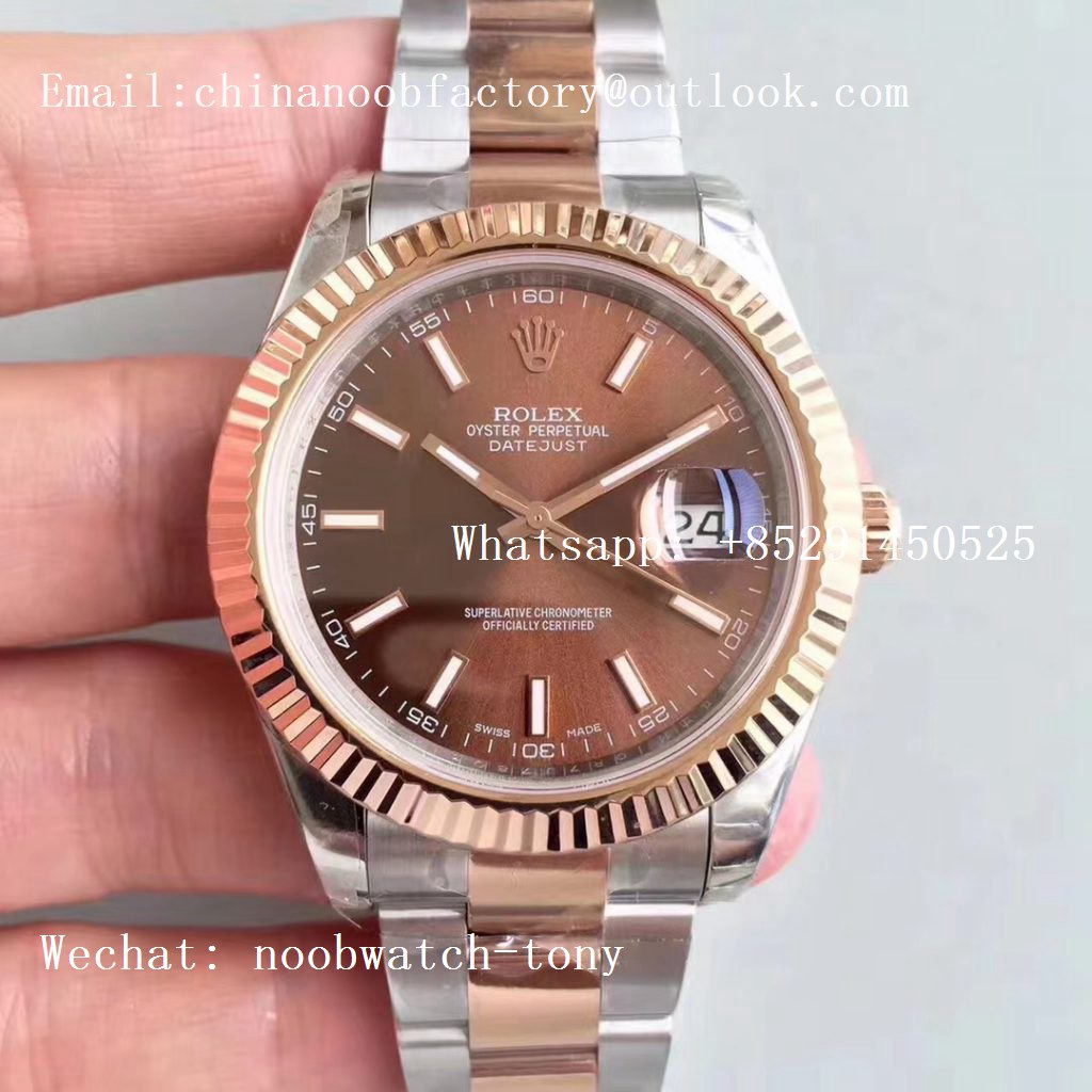 Replica Rolex DateJust 41mm 126333 904L 2tone Rose Gold/Steel GMF 1:1 Best Edition on Oyster Bracelet A2836