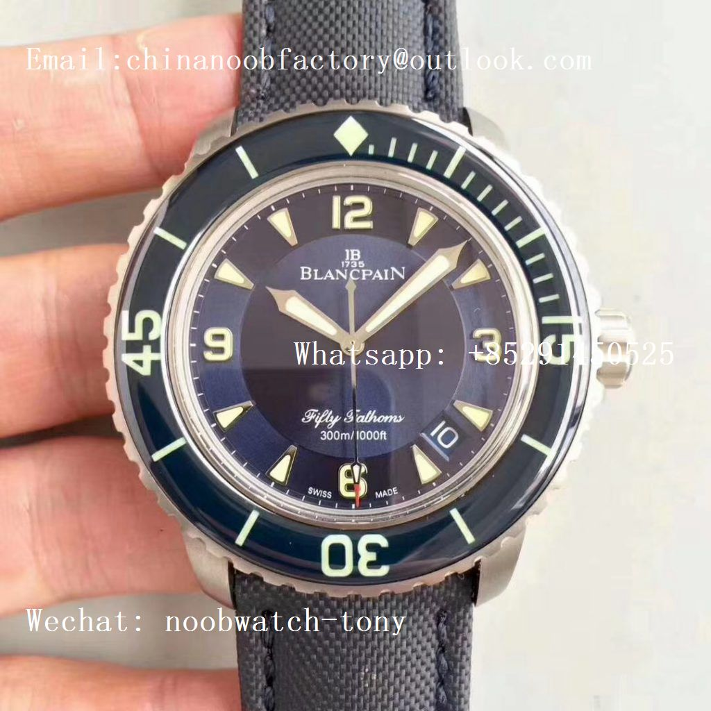 Replica Blancpain Fifty Fathoms Blue Titanium ZF 1:1 Best Edition Blue Dial A1315