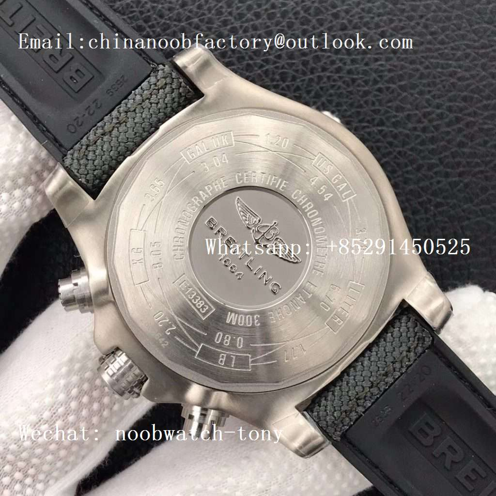 Replica Breitling Avenger Bandit Titanium GF 1:1 Best Edition Gray Dial on Gray Nylon Strap A7750 (Free Extra Strap)