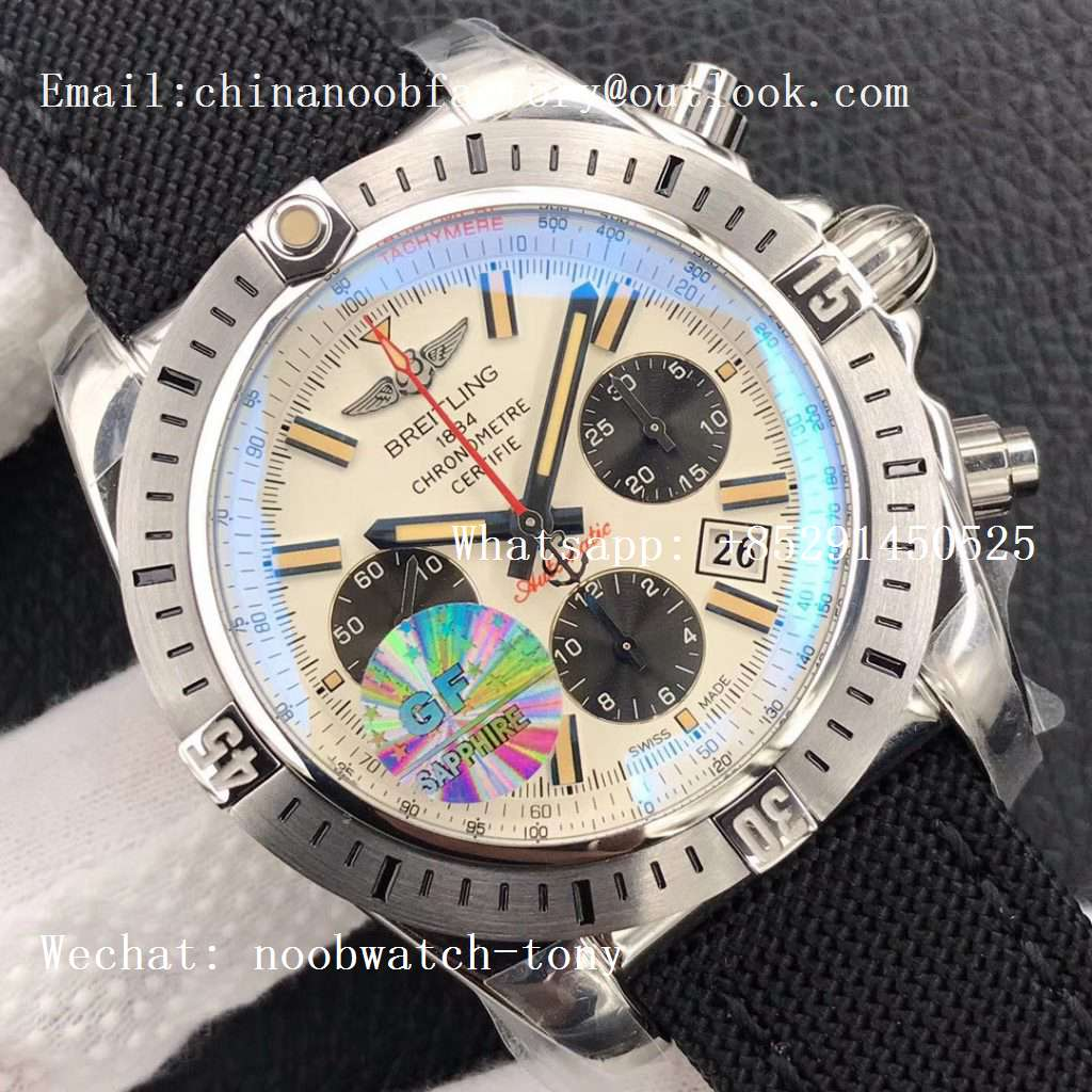 Replica Breitling Chronomat 44 Airborne 30th Anniversary GF 1:1 Best Edition White Dial A7750
