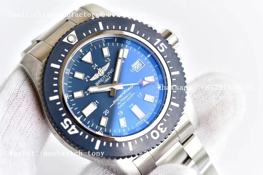 Replica Breitling Superocean 44mm Special GF 1:1 Best Edition Blue Dial on SS Bracelet A2824