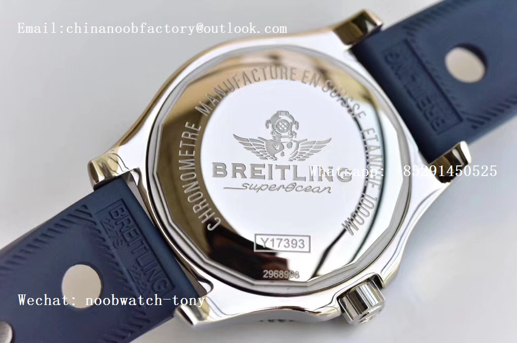 Replica Breitling Superocean 44mm Special GF 1:1 Best Edition Blue Dial on Blue Rubber Strap A2824