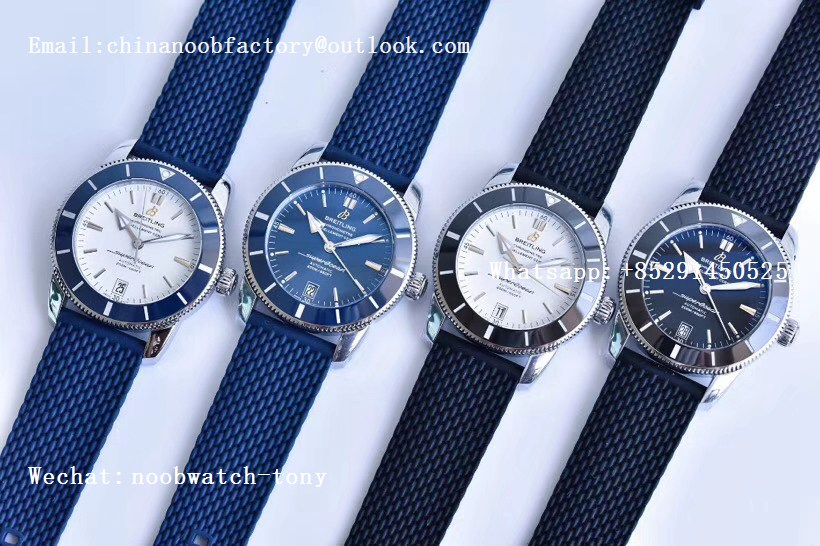 Replica Breitling SuperOcean Heritage ii 42mm SS GF 1:1 Best Edition White Dial Blue Bezel A2824 V2