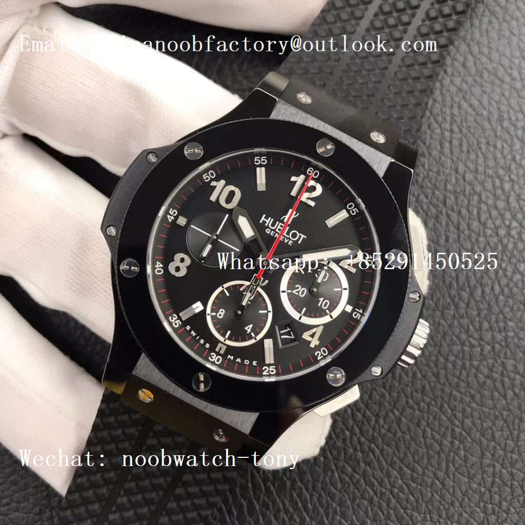 Replica Hublot Big Bang 44mm Black Magic Ceramic Black Dial V6F 1:1 Best HUB4104