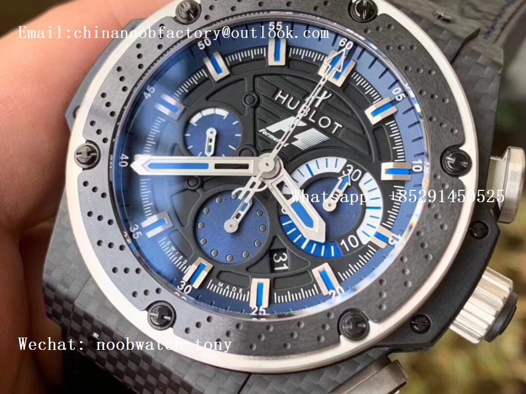 Replica Hublot Big Bang Ferrari F1 Carbon Fiber V6F Limited Edition Black/Blue Dial V6F 1:1 Best HUB4100