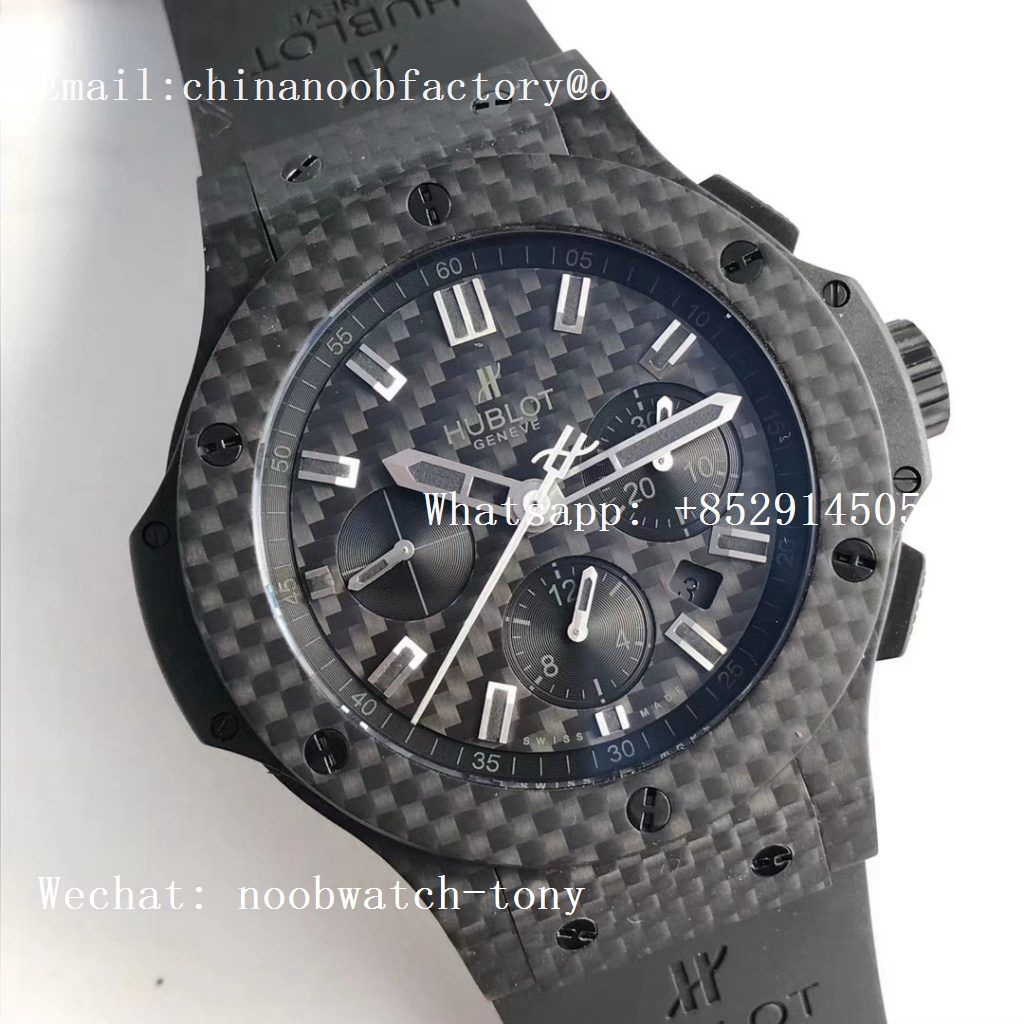 Replica Hublot Big Bang 44mm Full Carbon Fiber CF Dial Black Magic V6F 1:1 Best HUB4104