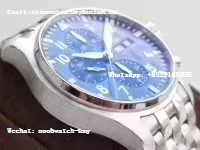 Replica IWC Pilot Chrono IW377717 Le Petit Prince Blue Dial 2016 ZF 1:1 Best Edition on New SS Bracelet A7750