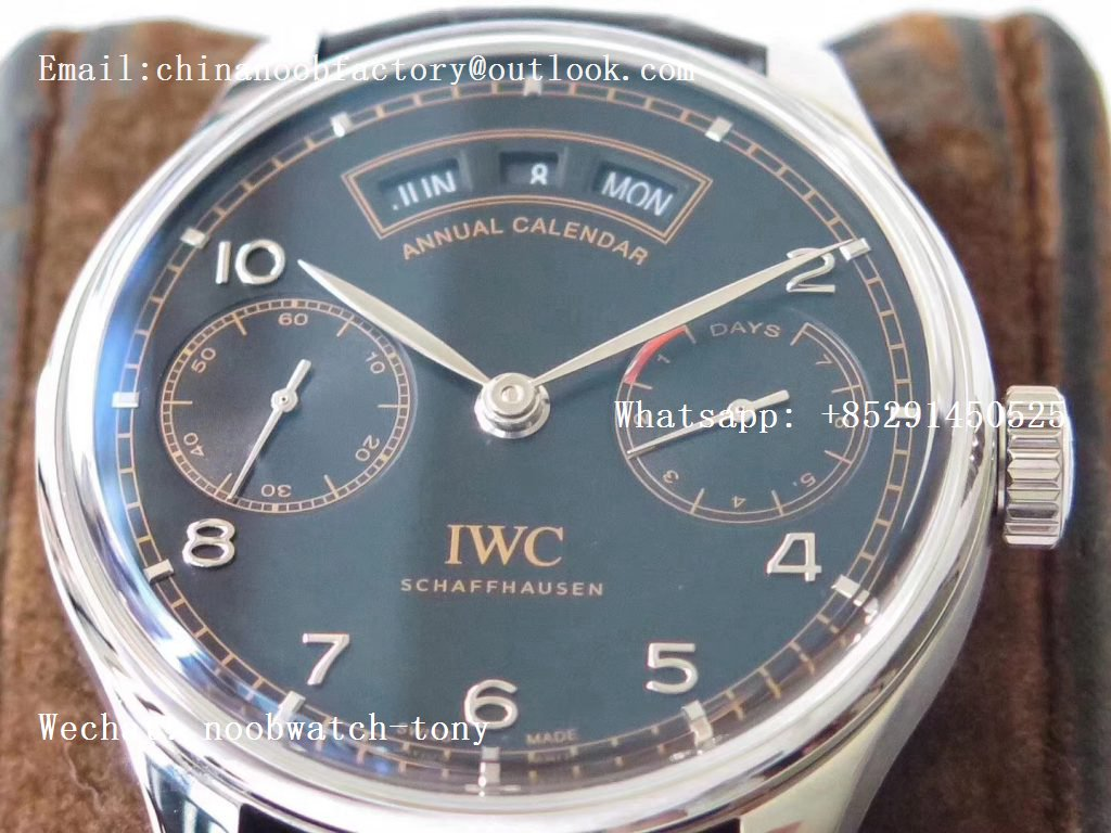 Replica IWC Portuguese Real Power Reserve Real Annual Calendar Edition Pisa ZF 1:1 Best Edition Black Dial A52850 V2