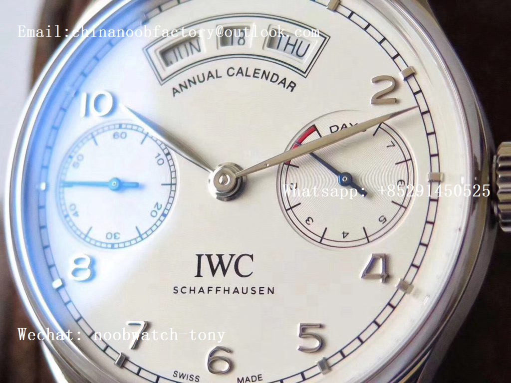Replica IWC Portuguese Real Power Reserve Real Annual Calendar IW503501 ZF 1:1 Best Edition White Dial A52850