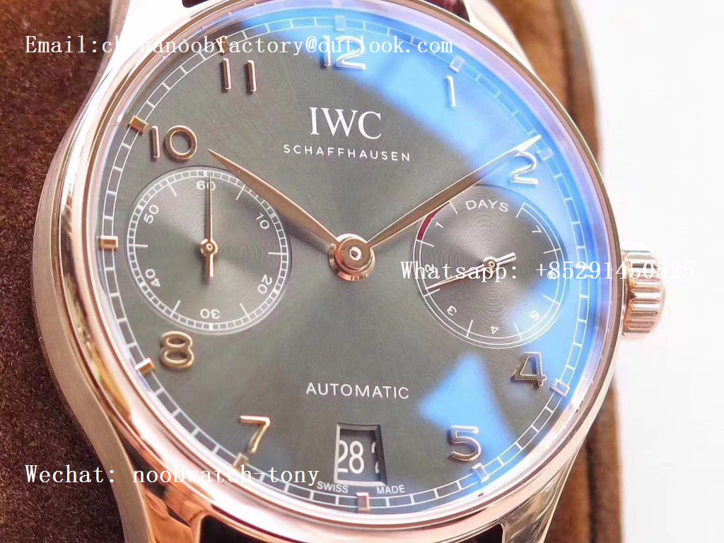 Replica IWC Portuguese Real Power Reserve Rose Gold IW500702 ZF 1:1 Best Edition Gray Dial A52010 V4