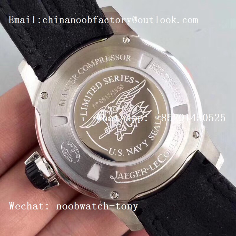 Replica Jaeger Lecoultre JLC Master Compressor Diving Automatic Navy Seals NOOB 1:1 Best Version A2824 Leather Strap