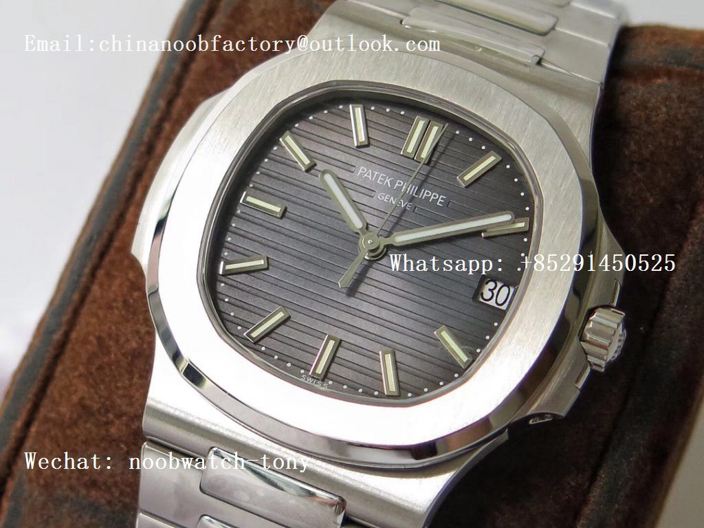 Replica Patek Philippe Nautilus 5711/1A PPF 1:1 Best Edition Blue Textured Dial on SS Bracelet 324CS (Free box) V3
