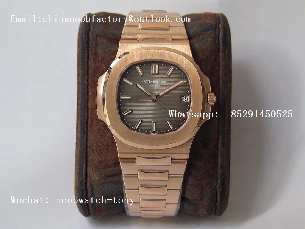 Replica Patek Philippe Nautilus 5711/1R PPF 1:1 Best Edition Brown Textured Dial on RG Bracelet 324CS (Free box) V3