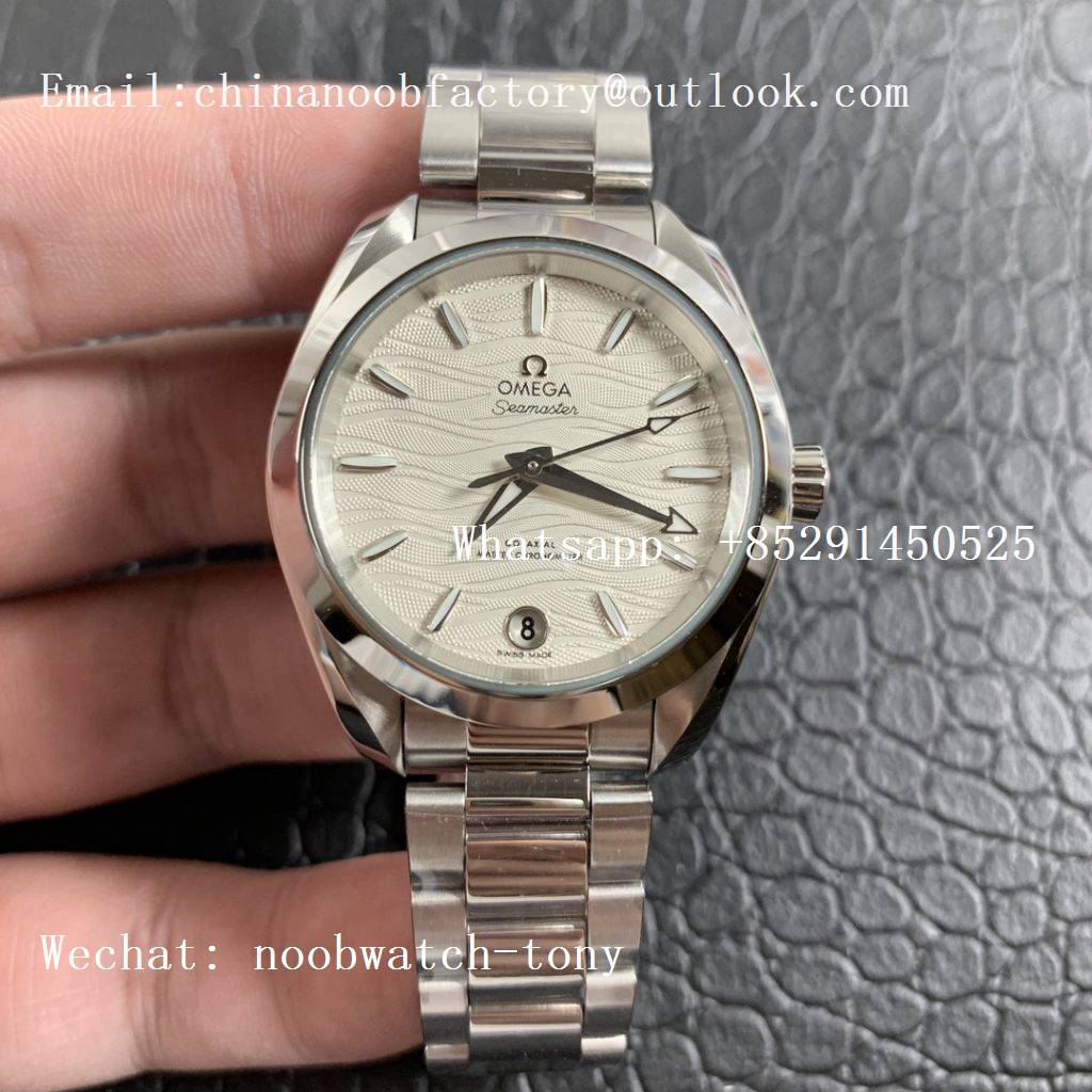 Replica OMEGA Aqua Terra 150M 34mm Ladies SS VSF 1:1 Best Edition White Wave Dial SS Markers on SS Bracelet A8800