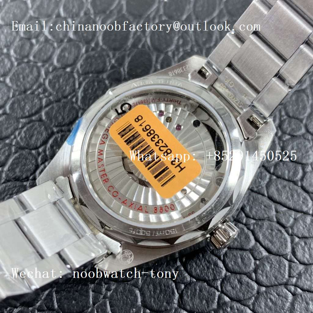 Replica OMEGA Aqua Terra 150M 34mm Ladies SS VSF 1:1 Best Edition Silver Dial Diamonds Markers on SS Bracelet A8800